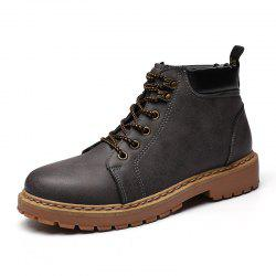 ZEACAVA Martin Boots British Chelsea Round Head Men Shoes -