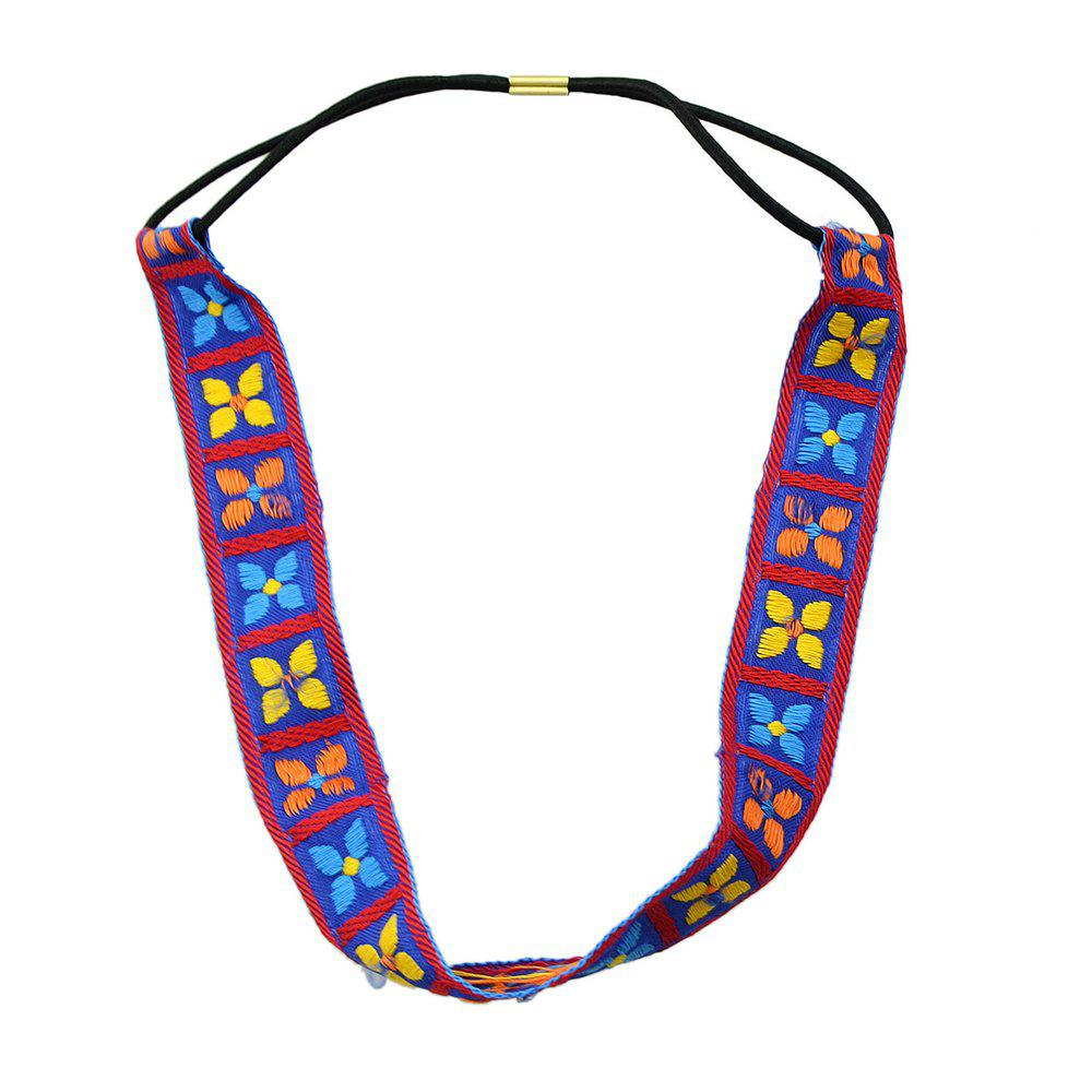 New Fashion Colorful Geometric Elastic Hairband for Women