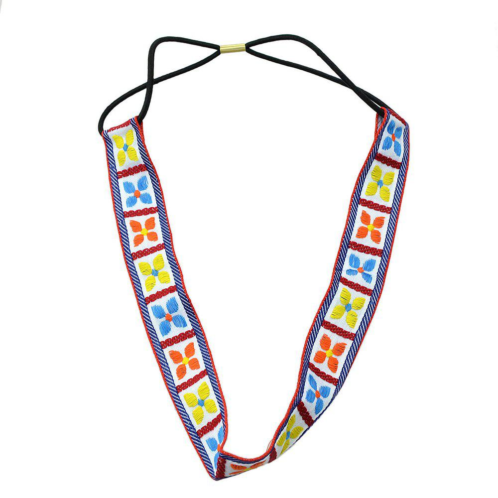 Shop Fashion Colorful Geometric Elastic Hairband for Women