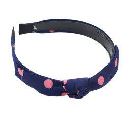 Fashion Sweet Bowknot Wave Point Hairband for Women -