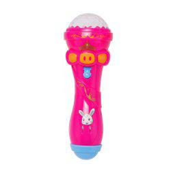 Emulated Music Toys Funny Lighting Wireless Microphone Model -