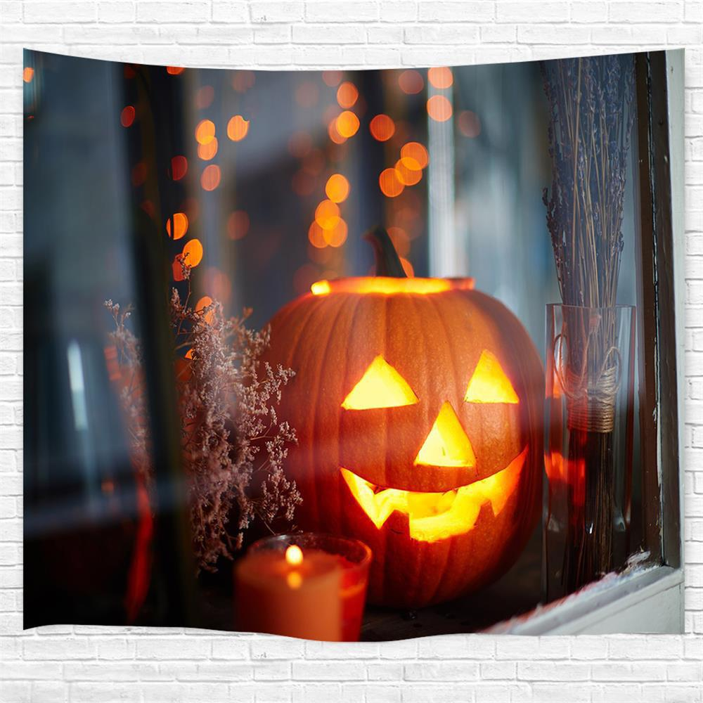 Buy Windowsill Pumpkin 3D Printing Home Wall Hanging Tapestry for Decoration