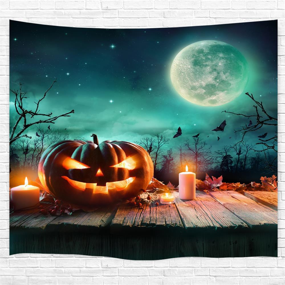 Cheap Wooden Pumpkin Candle 3D Printing Home Wall Hanging Tapestry for Decoration