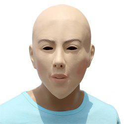 Halloween Cosplay Prop Baldheaded Beauty Latex Head Mask -