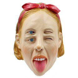 Halloween Whimsy Woman Latex Head Mask -