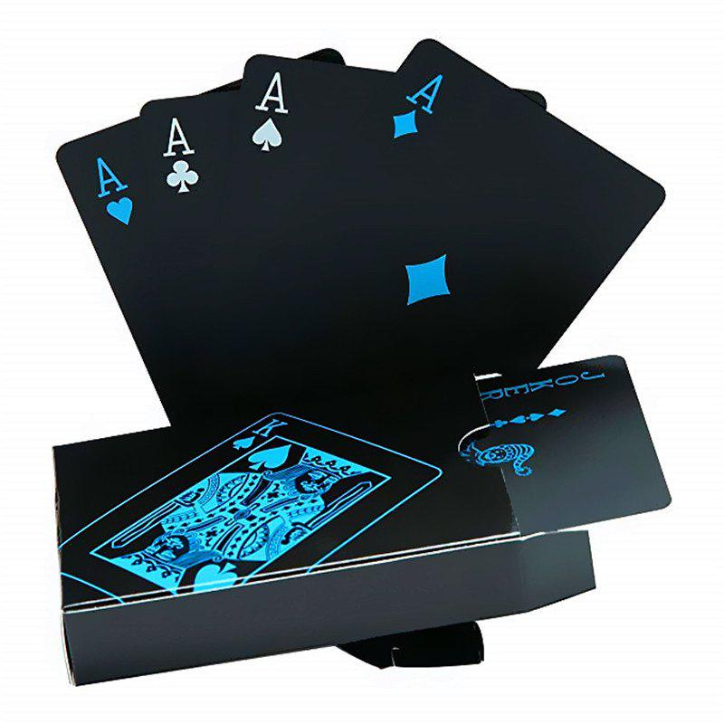 New Creative Black Water-resistant PVC Poker Playing Cards Table Game Set