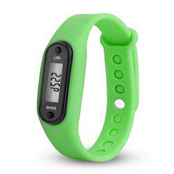Sport Watch Digital LCD Silicone Band Pedometer Distance Calorie Counter -