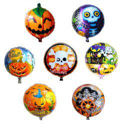 Halloween Party Pumpkin Ghost Skull Foil Round Shape Balloon -