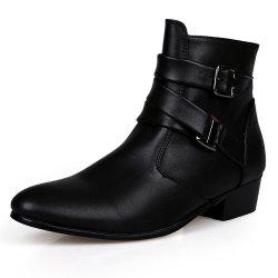Men's High-Top Leather Shoes -