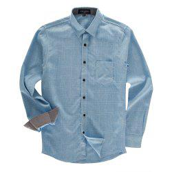 FREDD MARSHALL Men's Long Sleeve Cotton Plaid Casual Shirt -
