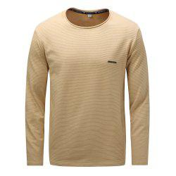 FREDD MARSHALL Men's Long Sleeve Casual  Striped T-shirt -