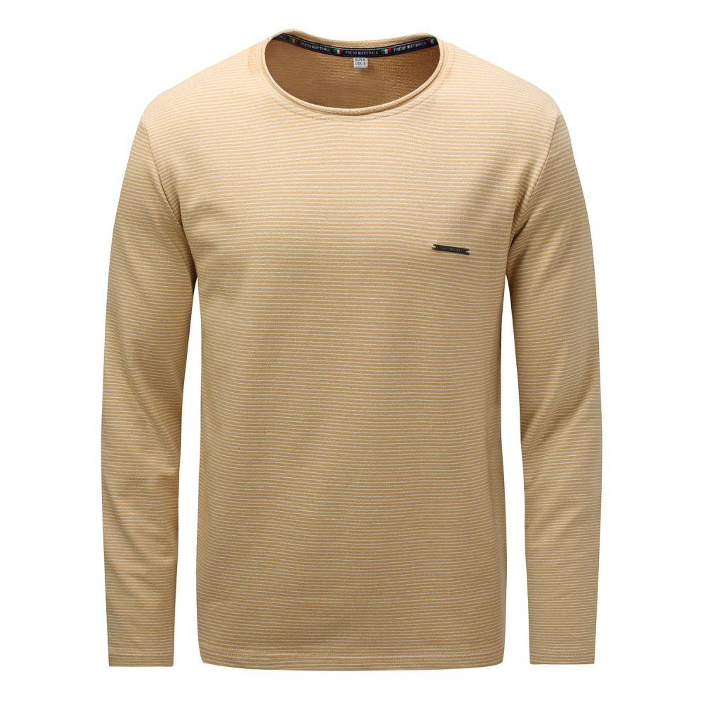 Outfits FREDD MARSHALL Men's Long Sleeve Casual  Striped T-shirt