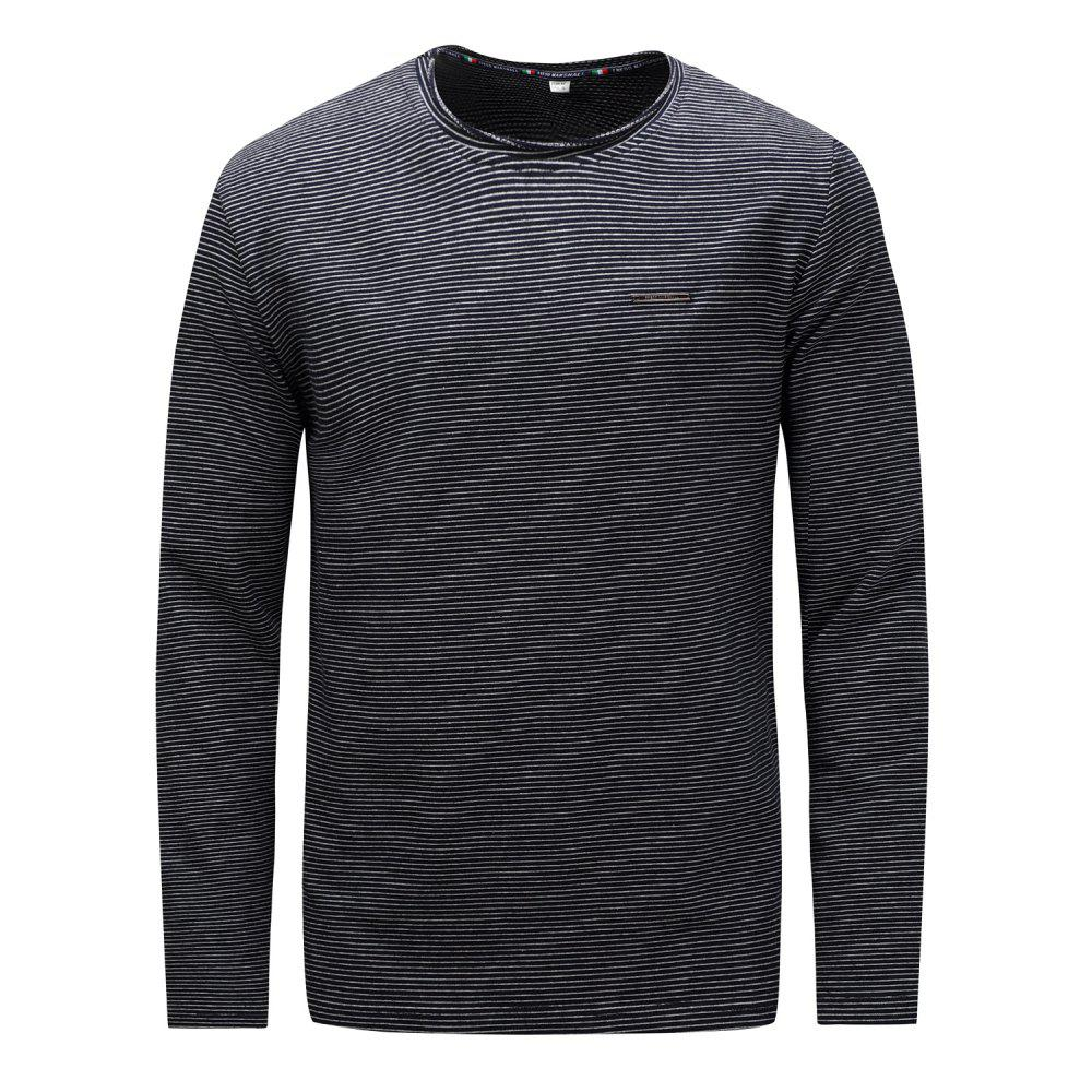f3842e0e 43% OFF] FREDD MARSHALL Men's Long Sleeve Casual Striped T-shirt ...