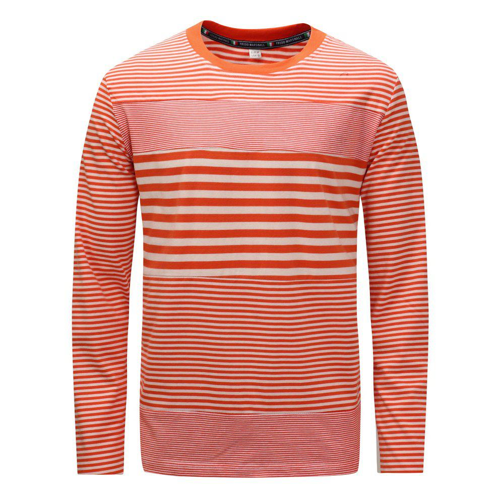 Shop FREDD MARSHALL Men's Long Sleeve Casual Striped Patchwork T-shirt