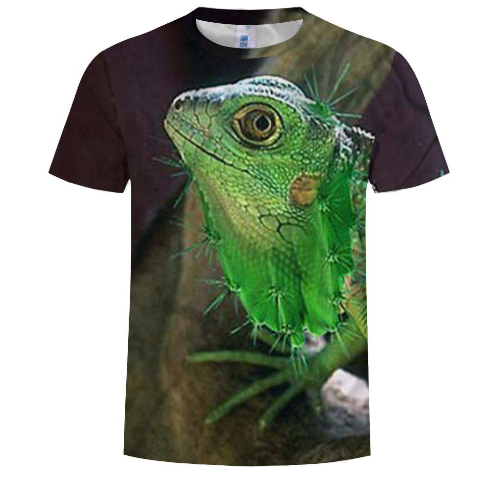 Affordable Summer New Fashion 3D Printing Round Neck Short-sleeved T-shirt