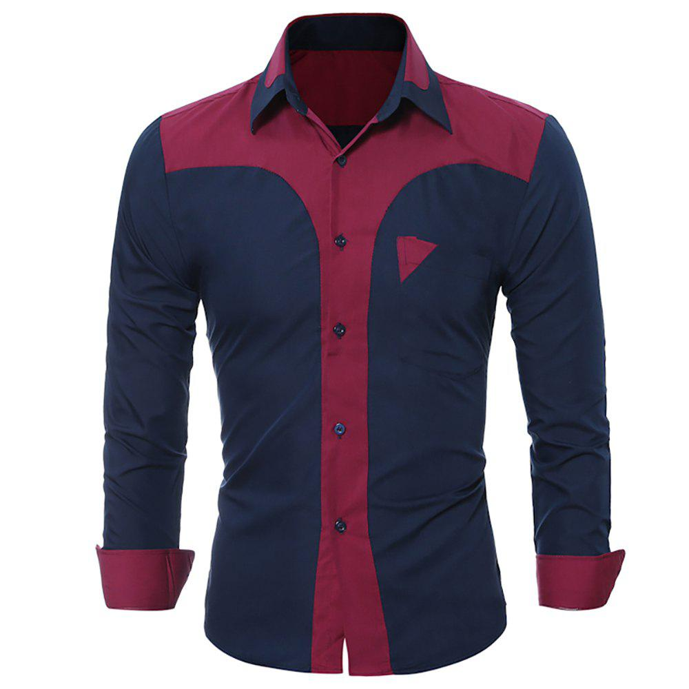 Shops Men's Fashion  Long Sleeves Men'S Casual Skinny Shirts
