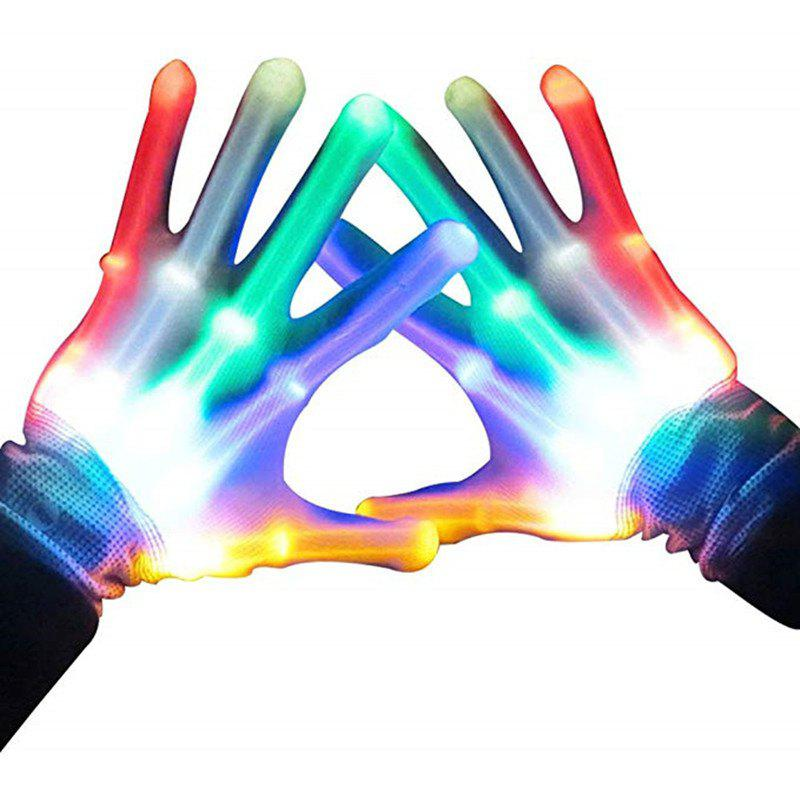 Unique LED Light Colorful Rainbow Fingertip Gloves