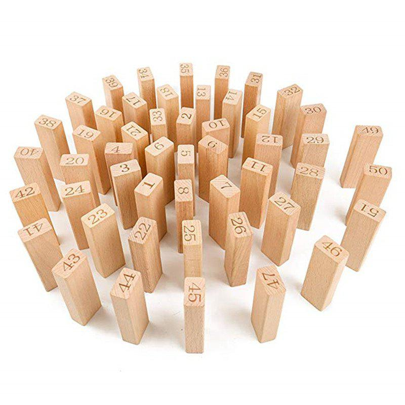 New Digital Layer Upon Layer Stack Log Blocks High Folding Wooden Toys