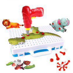 Animal 3D Puzzle Electric Drill Screw Nut Assembly Toy Dinosaur Elephant -