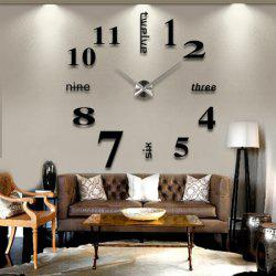Modern / Contemporary Stainless Steel Round Indoor AA Wall Clock -