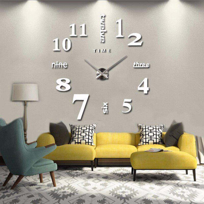 Online Modern / Contemporary Stainless Steel Round Indoor AA Wall Clock