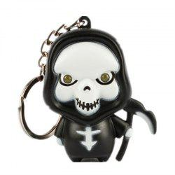 Ghost Reaper LED Illuminated Keychain Halloween Christmas Holiday Gift Pendant -