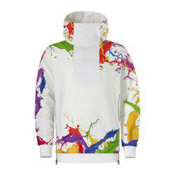 Men's  Autumn Winter 3D Digital Hooded Fashion Sweatshirt -