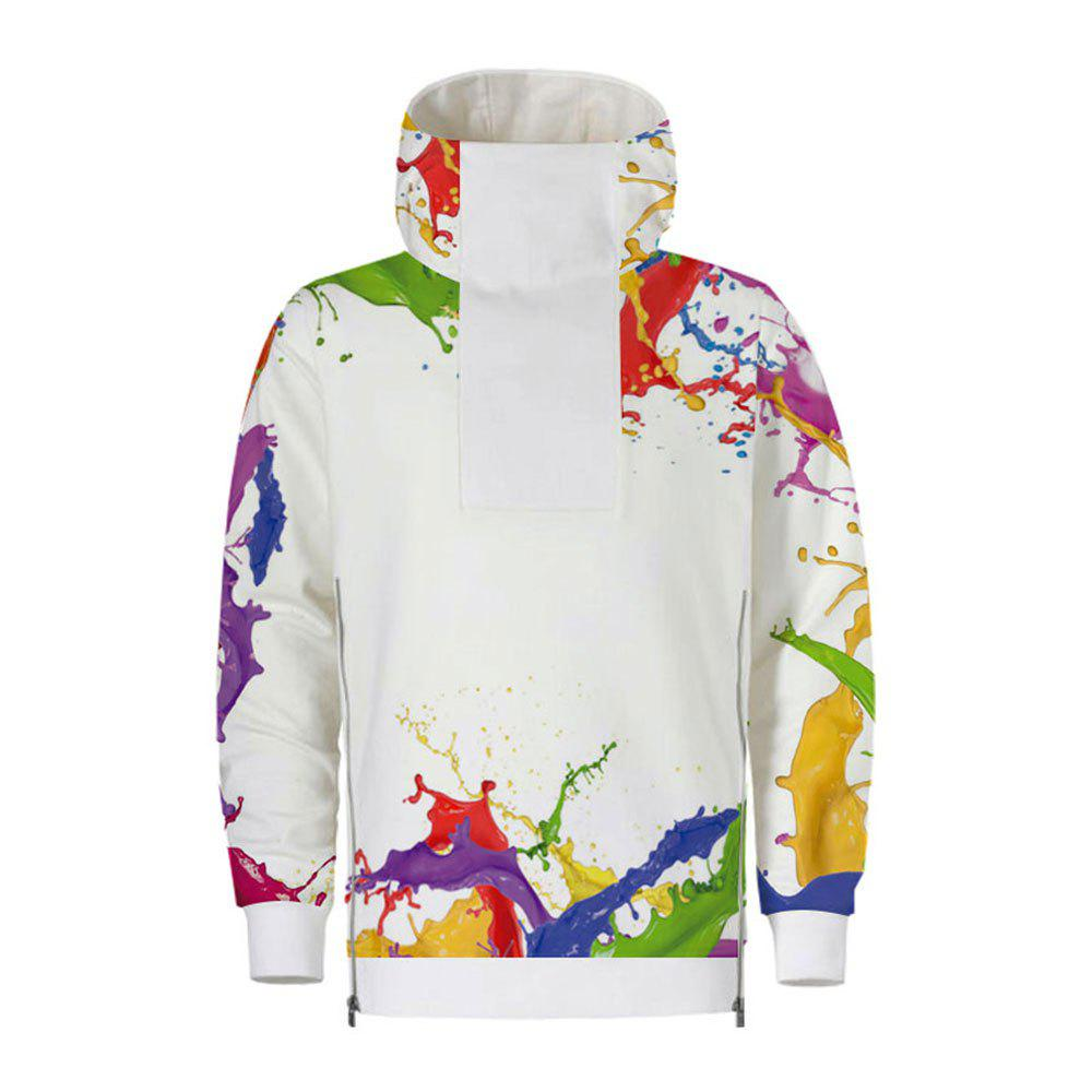 Unique Men's  Autumn Winter 3D Digital Hooded Fashion Sweatshirt