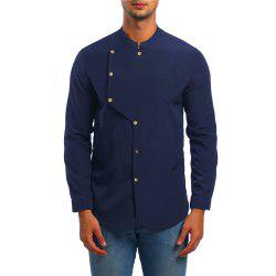 Men's Asymmetrical Double Breasted Shirt -