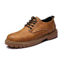 Men Low Vamp Low-key Solid Leisure Boots -