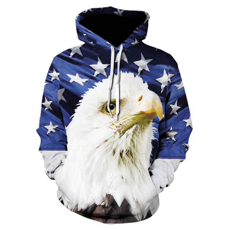 668ad343ee3a Cheap 3D Print Men s Sweater Coat White Owl Casual Graphic T-shirt Hoodies