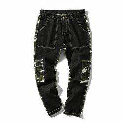 Men's  Camouflage Stitching Multi-pocket Casual Pants -
