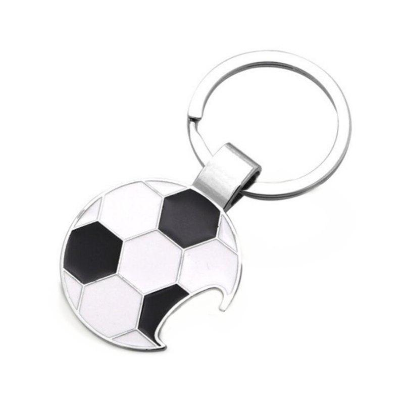 Outfit Creative Football Keychain Opener Metal Car Pendant