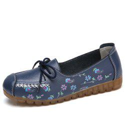 Womens Comfortable Fashion Flat Leather Loafers Shoes -