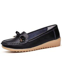 Womens Casual Light Weight Flat Leather Loafers Shoes -