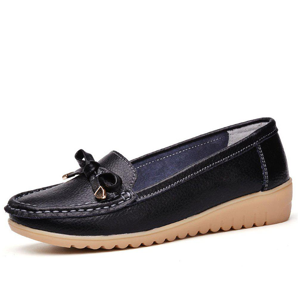 Best Womens Casual Light Weight Flat Leather Loafers Shoes