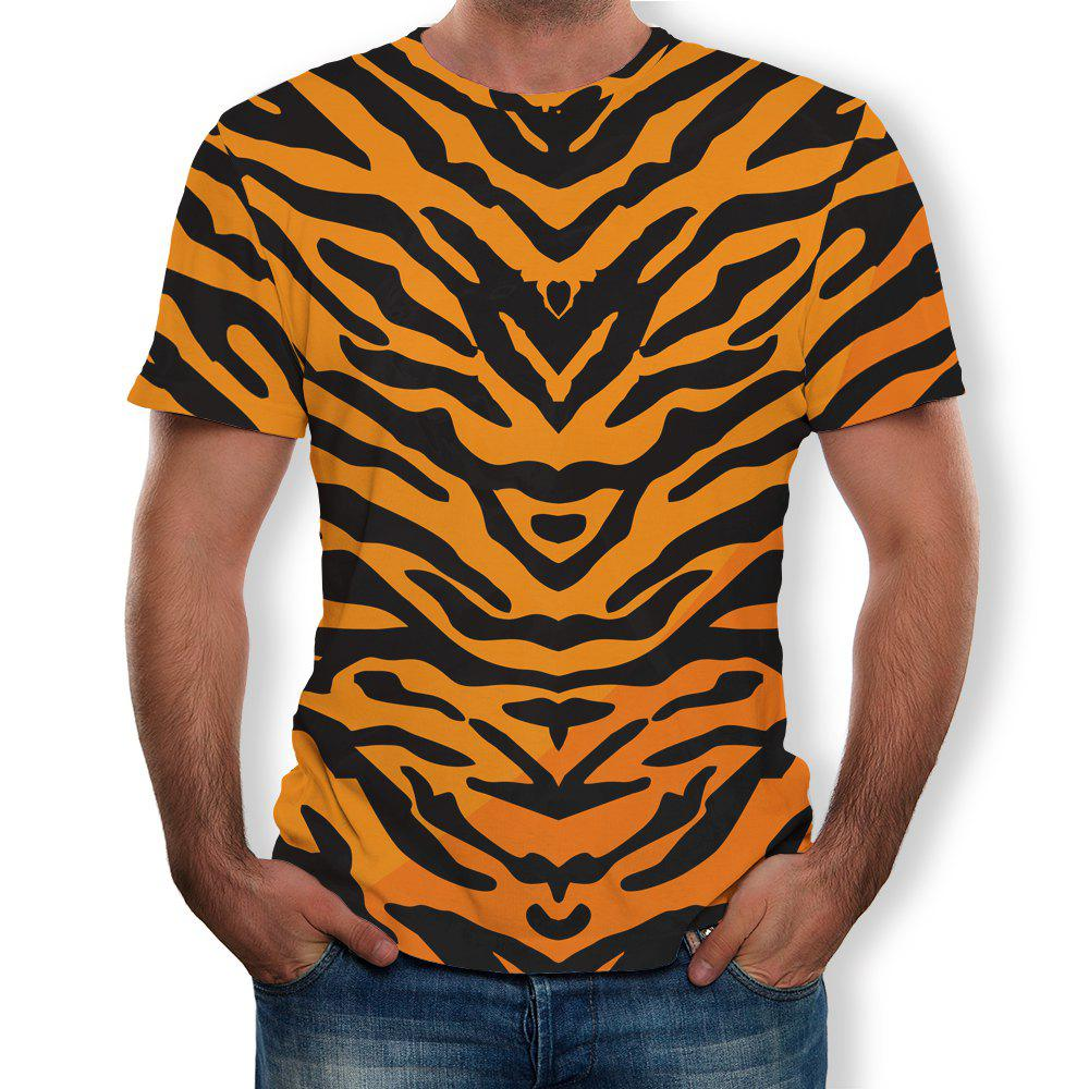 Sale New Round Neck Casual Striped Print T-shirt