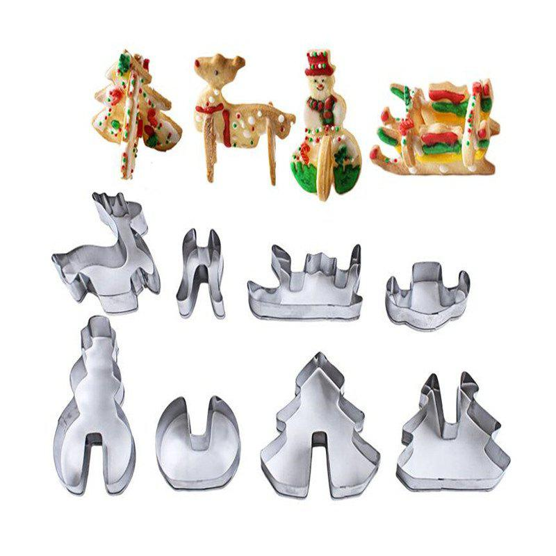 Affordable 8Pcs 3D ChristmasStainless Steel Cookie Cutters