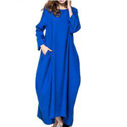 Large Long-Sleeved  Pretty Dress -