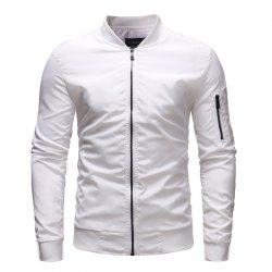 Men's Baseball Collar Loose Casual Solid Color Outdoor Military Jacket -
