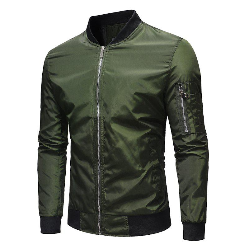 Latest Men's Baseball Collar Loose Casual Solid Color Outdoor Military Jacket