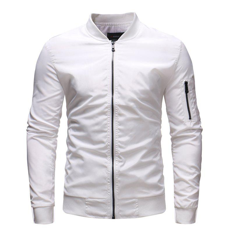 Chic Men's Baseball Collar Loose Casual Solid Color Outdoor Military Jacket