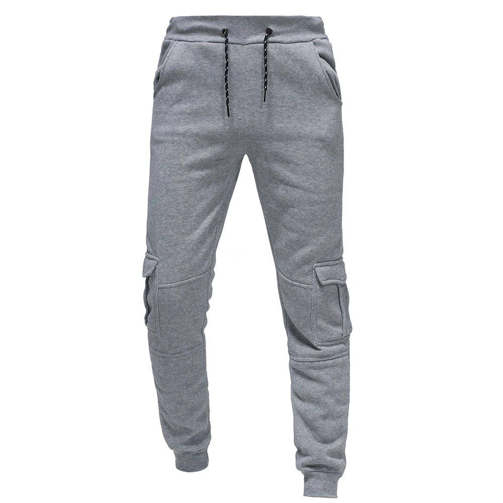 Discount 2018 Men's Fashion Casual Tether Elastic Multi-pocket Sports Trousers