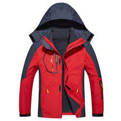 Men's Casual Waterproof Windproof Outdoor Hooded Jacket -