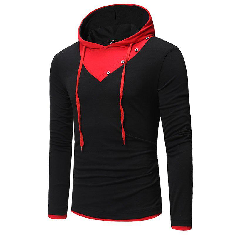 Cheap Men's Fashion Button Design Casual Hoodies