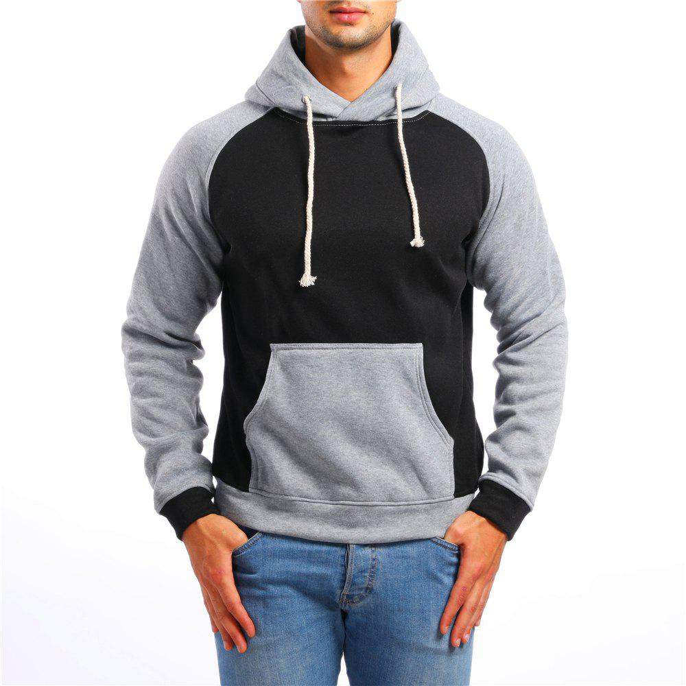Unique Men's Casual Colorblock Long Sleeve Sports Hoodie
