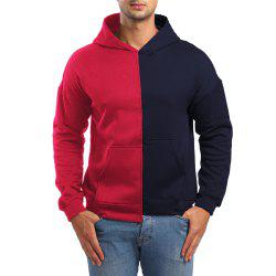 Men's Casual Asymmetric Colorblock Hoodie -