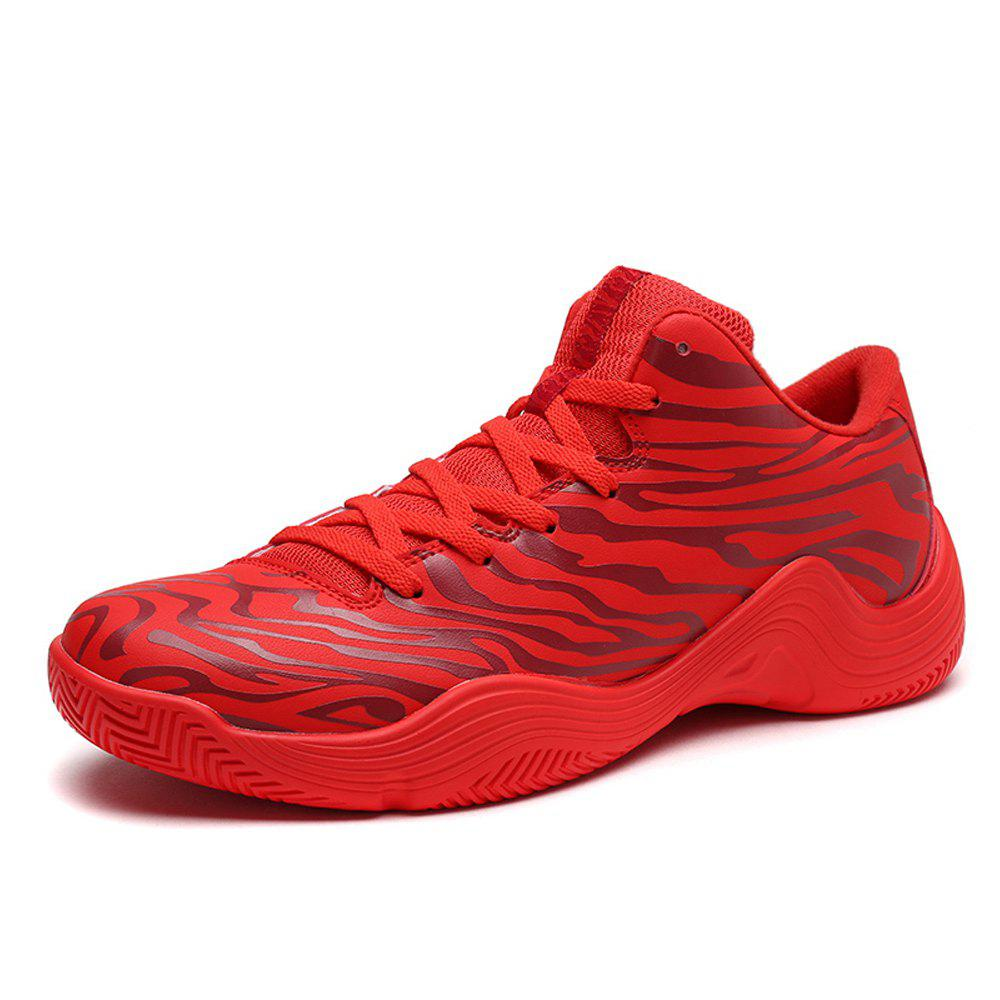 Online Tiger Stripped Stylish Plus Size Light Convenient Basketball Shoes