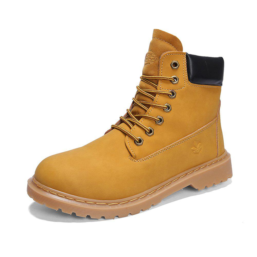 Affordable Men High-cut Classical Solid Outdoor American Casual Boots