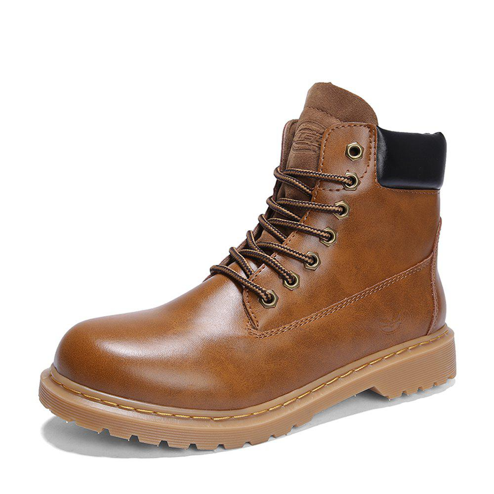 New Men High-cut Classical Solid Outdoor American Casual Boots